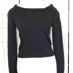 Moda International Silk Cashmere Blend Black Top